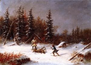 Cornelius Krieghoff 3 caribou hunter